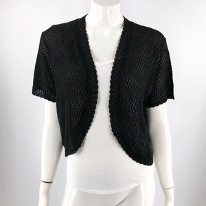 NY Collection Cardigan Sweater Plus Size 1X Black
